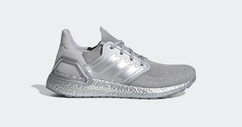 adidas ultraboost 20 trainers in silver