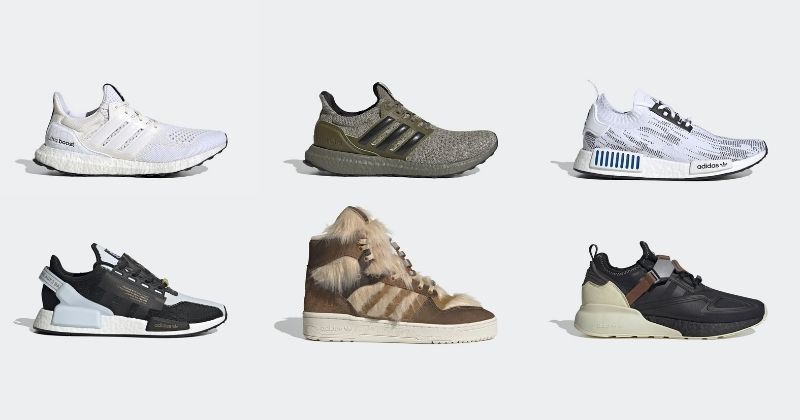 adidas x star wars range of various trainers