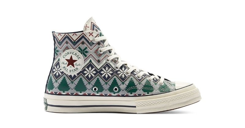 converse chuck taylor trainers in festive colours