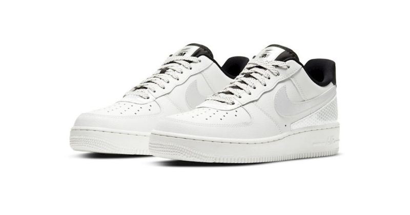 nike air force 1 in white with reflective panels