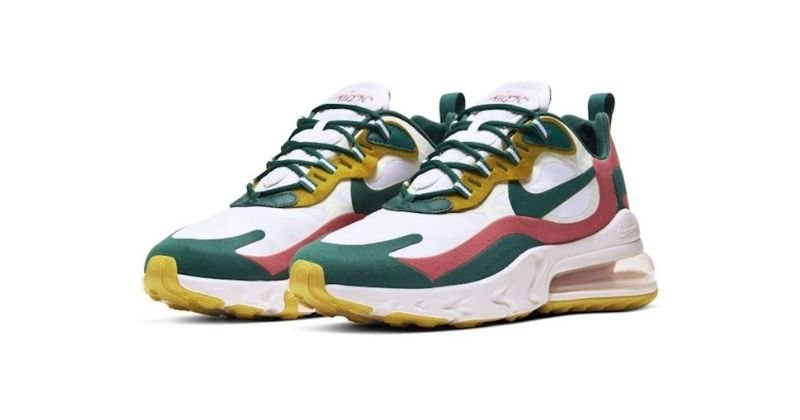 nike air max 270 in yellow red and green