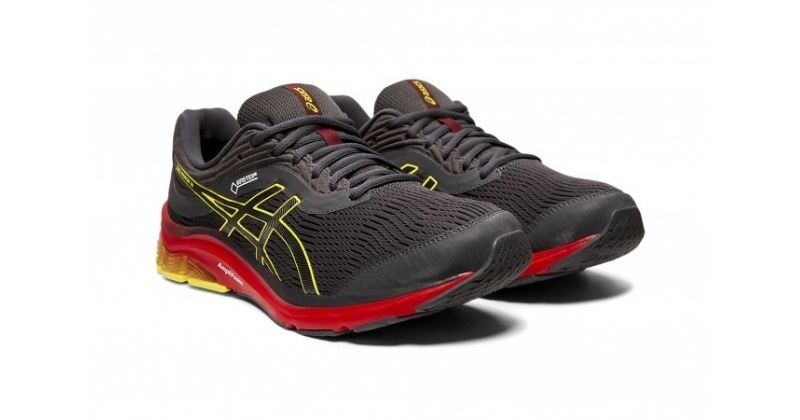 asics gelpulse 11 gtx in black and red