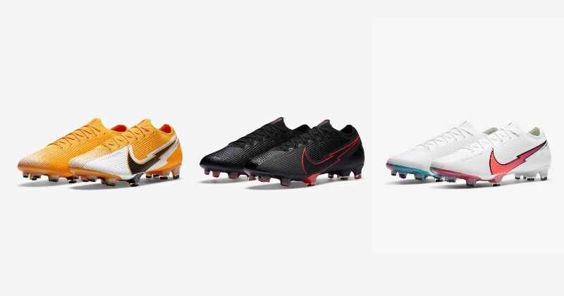 nike mercurial vapor football boots in white orange and black