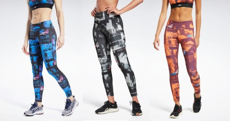 reebok leggings in multiple colours