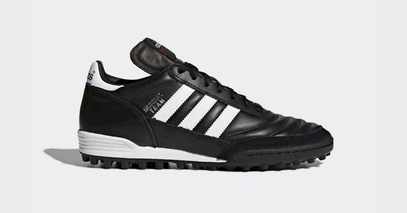 adidas copa mundial team astro turf boot in black and white