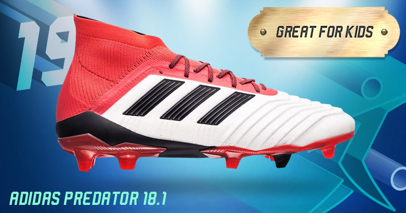 white adidas predator 18.1 boots from the cold blooded pack