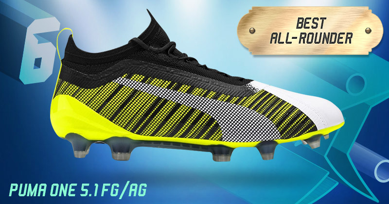 puma one football boots in yellow, white and black