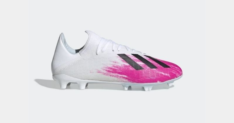 adidas x 19.3 football boots in white and pink