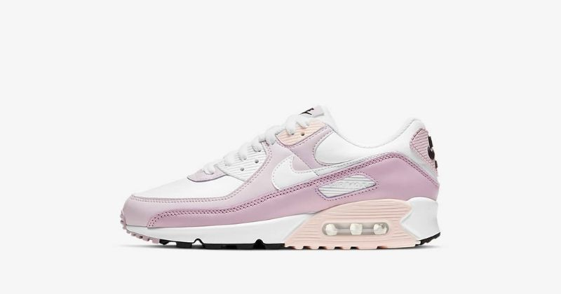 nike air max 90 trainers in white and champagne colours