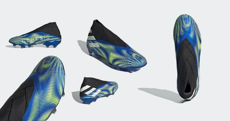 adidas nemeziz+ football boots in blue and white