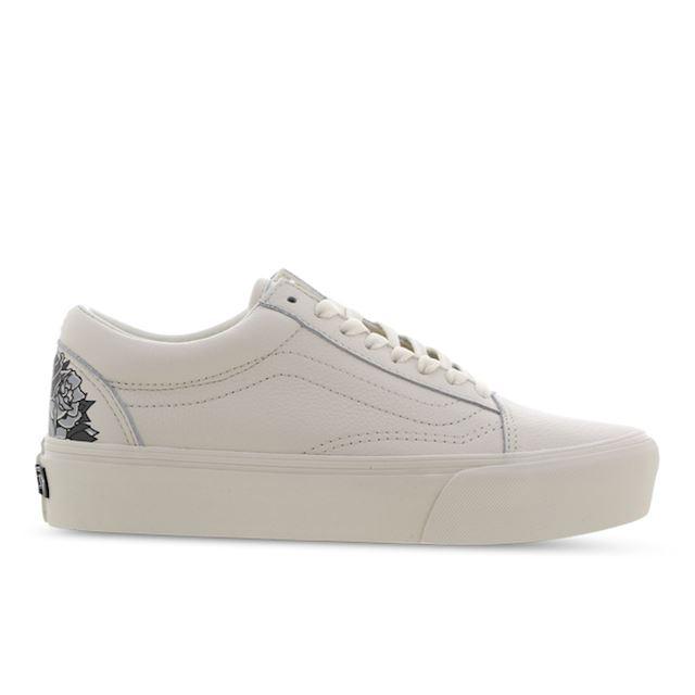 Vans Old Skool Platform - Women Shoes - Beige - Textile, Leather - Size 36 - Foot Locker