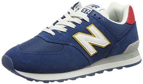Balance 574 Shoes - Dark Blue/Team Red