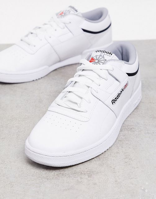 Reebok club workout trainers in white
