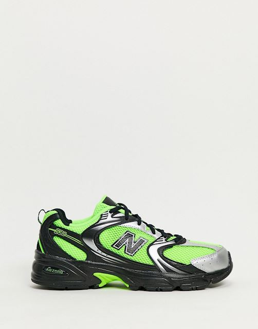 New Balance 530 trainers in neon green
