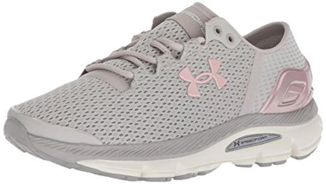 Under Armour SpeedForm Grey Pink Women Running Shoes Sneakers 3000290-101