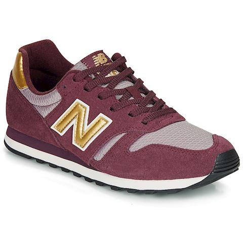 New Balance 373 Shoes - NB Burgundy/Gold Metallic
