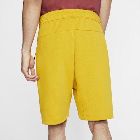 yellow nike fleece shorts
