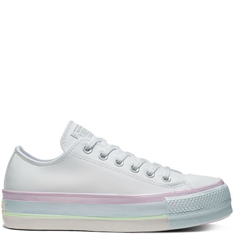 Converse All Star Footie W socks white pink