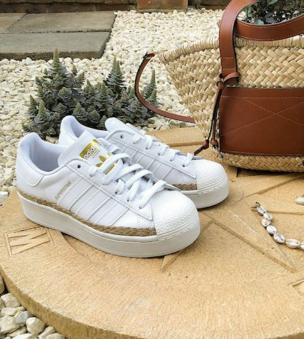 maleta negativo Crudo  adidas Originals Superstar Bold trainers in white with rope detail  exclusive to ASOS   FY2449   FOOTY.COM