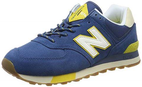 New Balance 574 Shoes - Blue/Sulphur