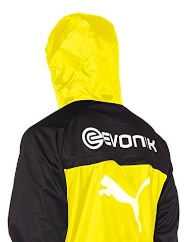 puma borussia dortmund mens yellow rain training jacket