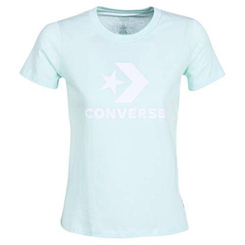Converse STAR CHEVRON CORE SS TEE women's T shirt in Blue