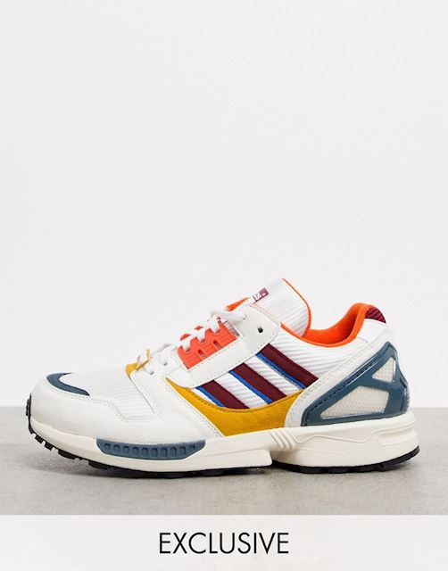 Incienso etc. Pulido  adidas Originals ZX 8000 Happy Camping trainers in white exclusive to ASOS  | FY9271 | FOOTY.COM