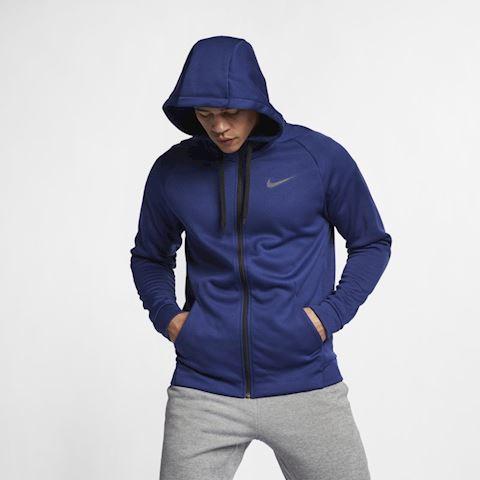 Nike Dri FIT Therma Men's Full Zip Training Hoodie Blue