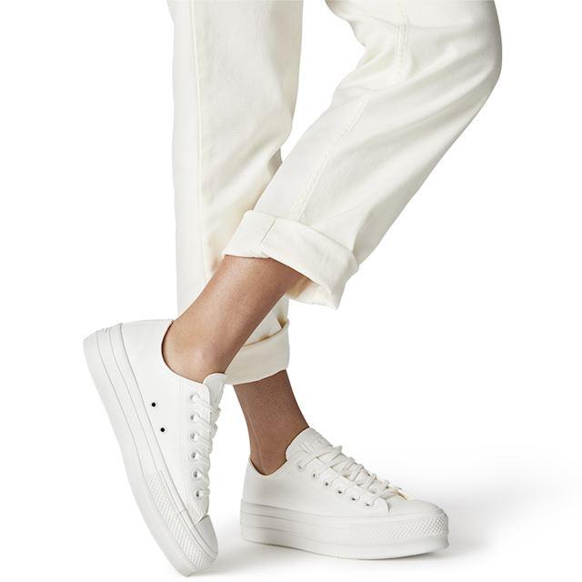 converse chuck platform vintage white