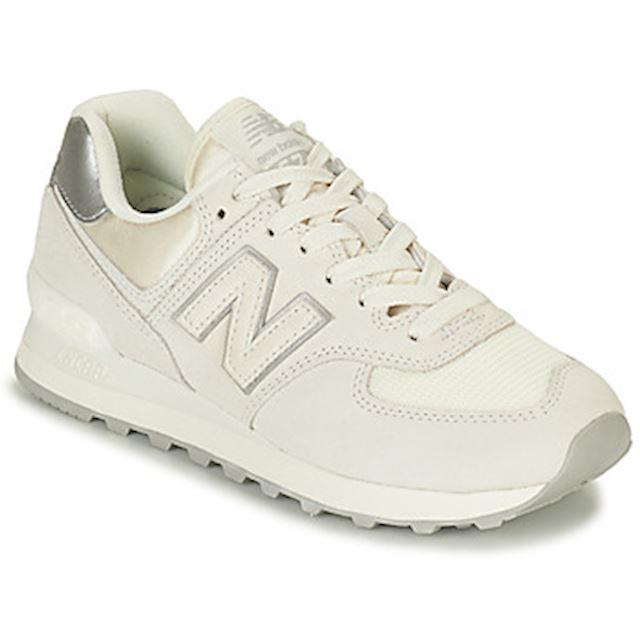 New Balance 574 Sateen Tab Shoes - Sea Salt/Pink