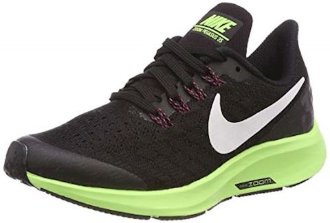 Nike Running Shoe Air Zoom Pegasus 35 BlackWhiteLime Green Kids