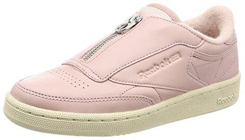 reebok club c 85 zip shell pink white