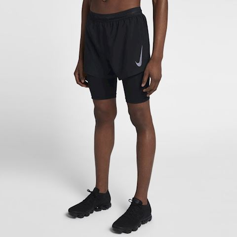 Nike AeroSwift Men's 410cm 2 in 1 Running Shorts Black