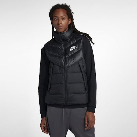 Nike Men's Sz Large Windrunner Down Fill Gilet Vest Black 928859 010