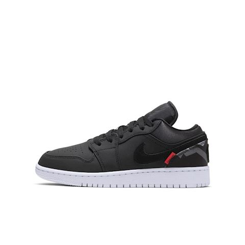 Nike Air Jordan 1 Low Paris Saint Germain Older Kids Shoe Black