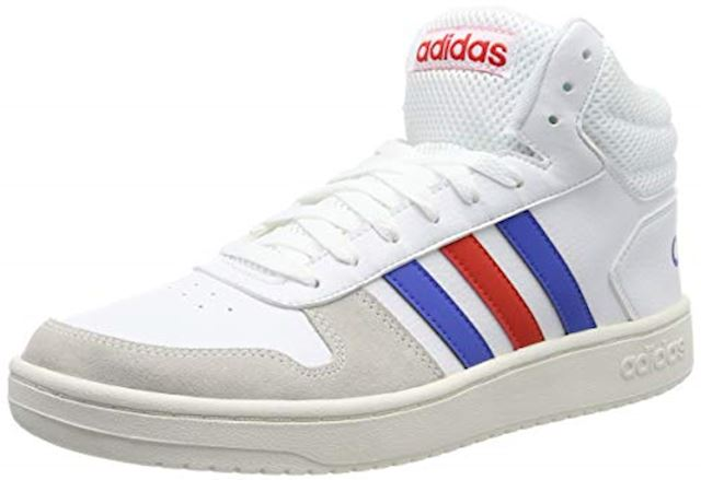 adidas Hoops Mid Leather Mens Trainers - White